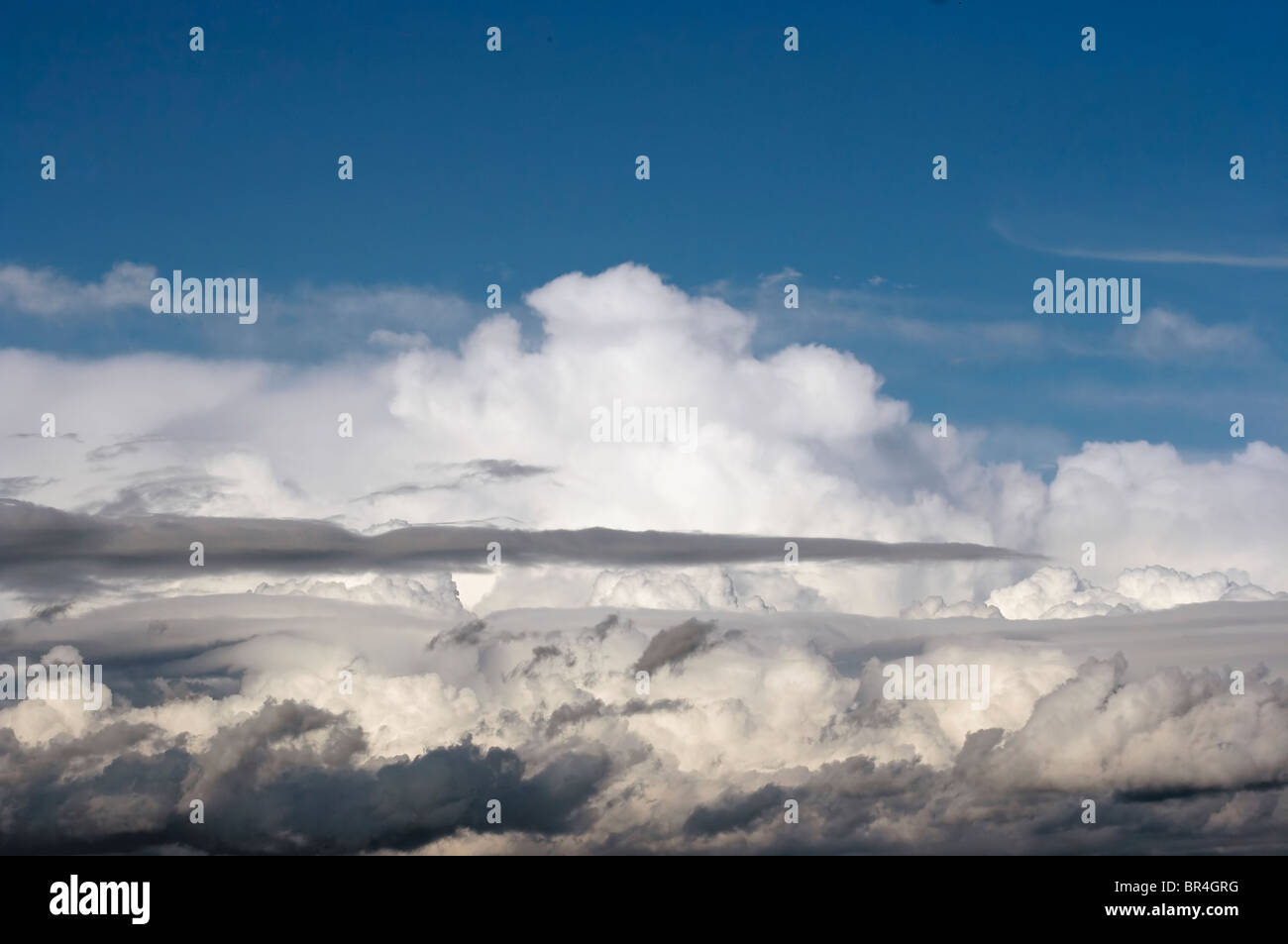 floating clouds - Stock Image