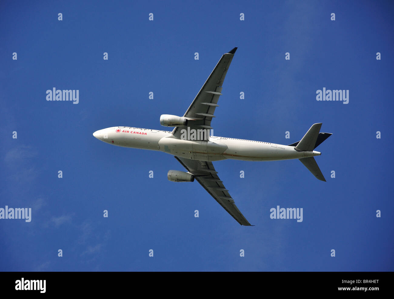 Air Canada Airbus A330-300 aircraft taking off, Heathrow Airport, Greater London, England, United Kingdom - Stock Image