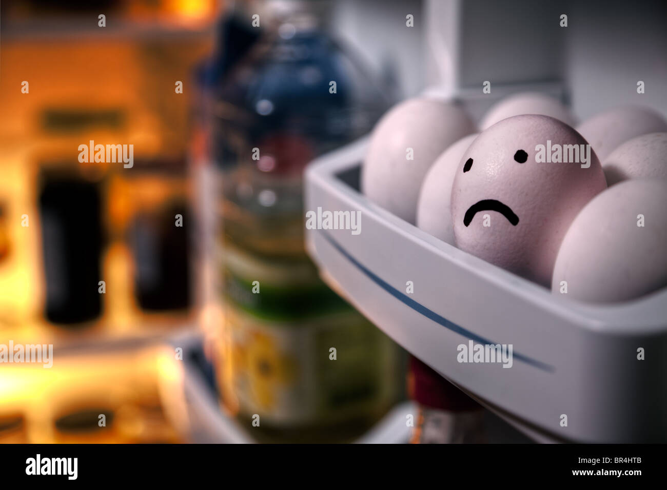 Sad egg - Stock Image