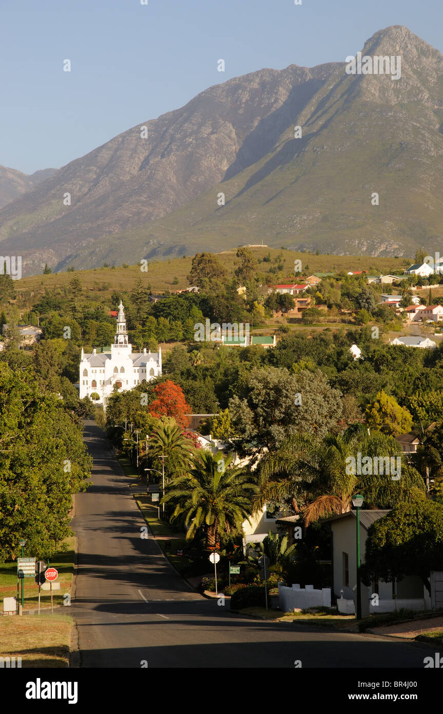 Swellendam a historic Garden Route town overlooked by the Langeberg Mountains Western cape South Africa - Stock Image