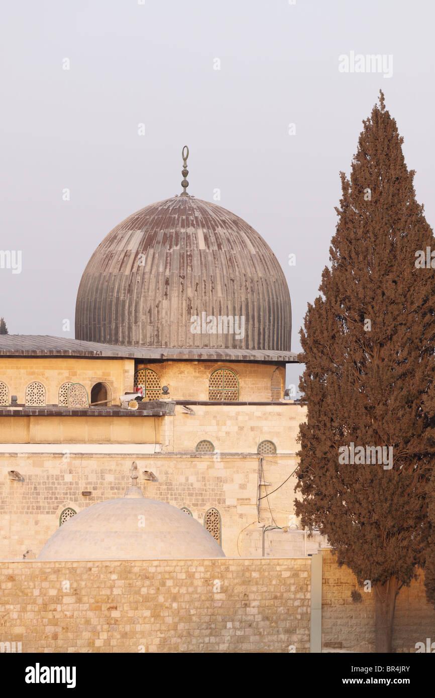 Al- Aqsa Mosque at Sunset, Jerusalem - Stock Image