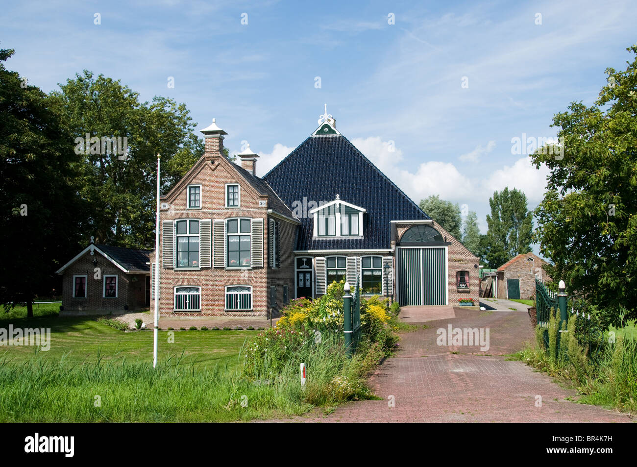 Friesland Netherlands Farm country seat manor - Stock Image