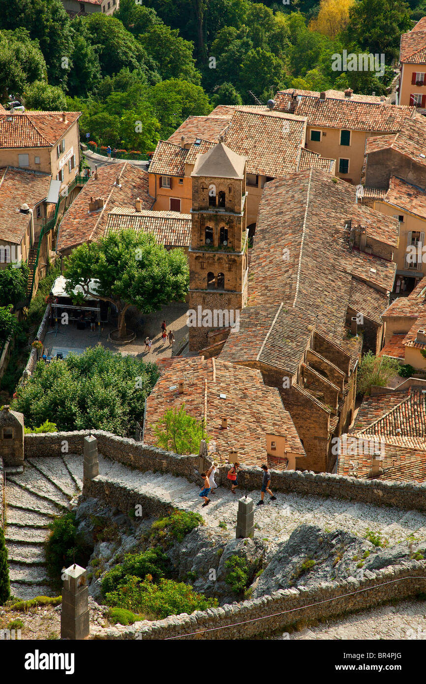 Europe, France, Alpes-de-Haute-Provence (04), Village of Moustiers-Sainte Marie Stock Photo