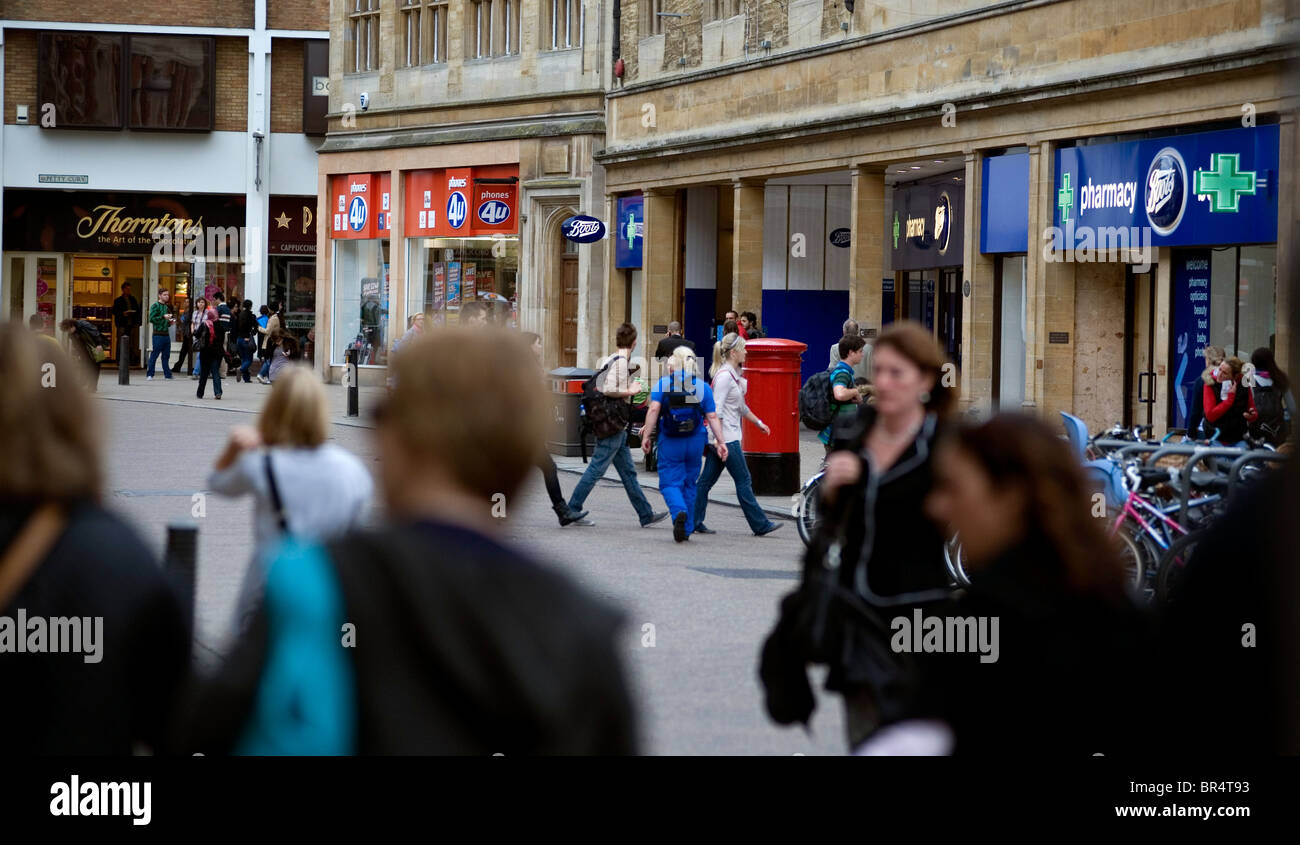 Cambridge Clone Shops by . Photographs in the centre of the City of Cambridge showing the profusion of 'Clone' - Stock Image