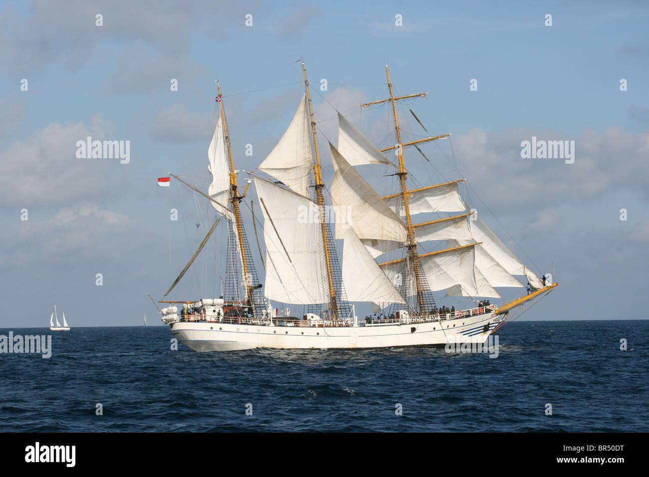 Dewaruci, The Tall Ships Races 2010, Kristiansand - Stock Image