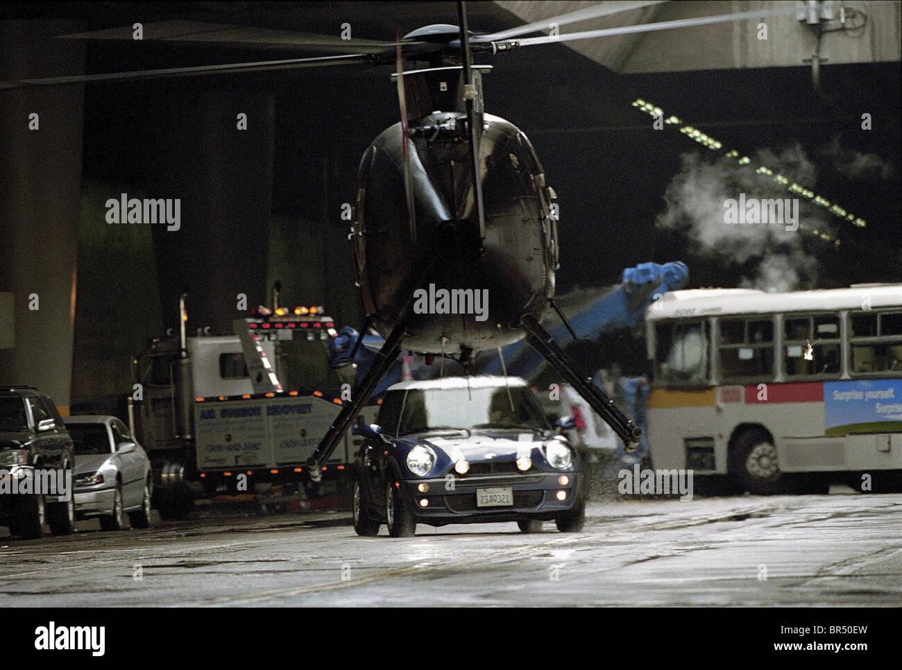 HELICOPTER & MINI CAR THE ITALIAN JOB (2003) - Stock Image