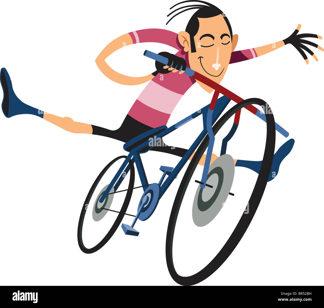 A man doing stunts on a bicycle - Stock Image