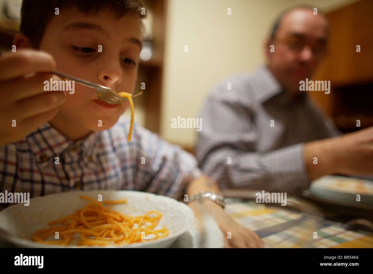Pasta in Italy - Stock Image