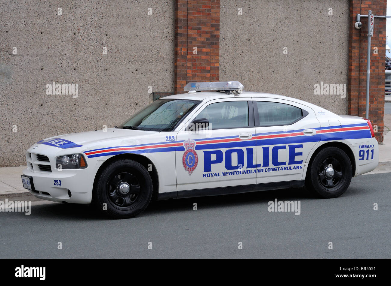 Dodge Charger Police Car In The Newfoundland Police Force Canada