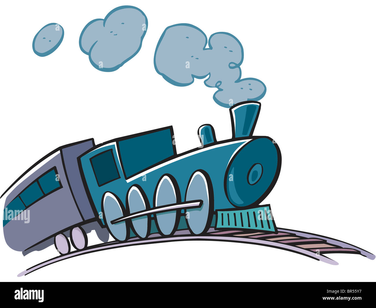 Drawing of a train Stock Photo