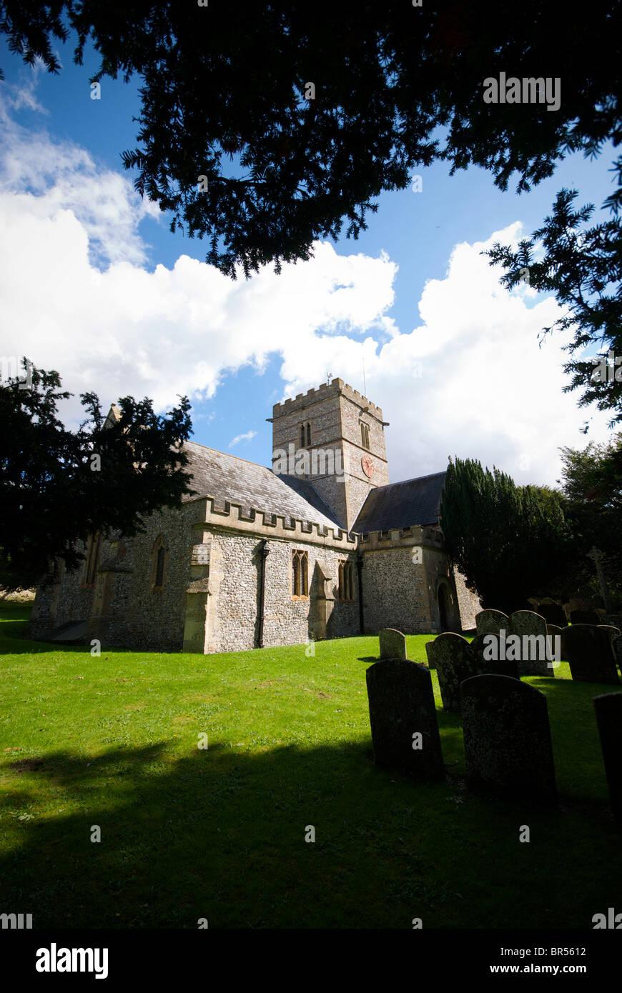 East Garston Parish Church Berkshire UK - Stock Image