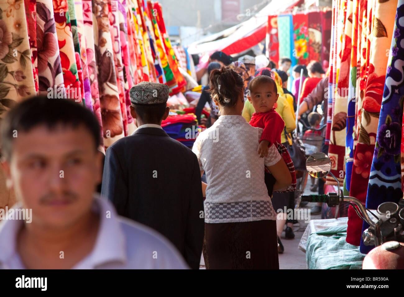 Bazaar in Turpan Xinjiang China. - Stock Image
