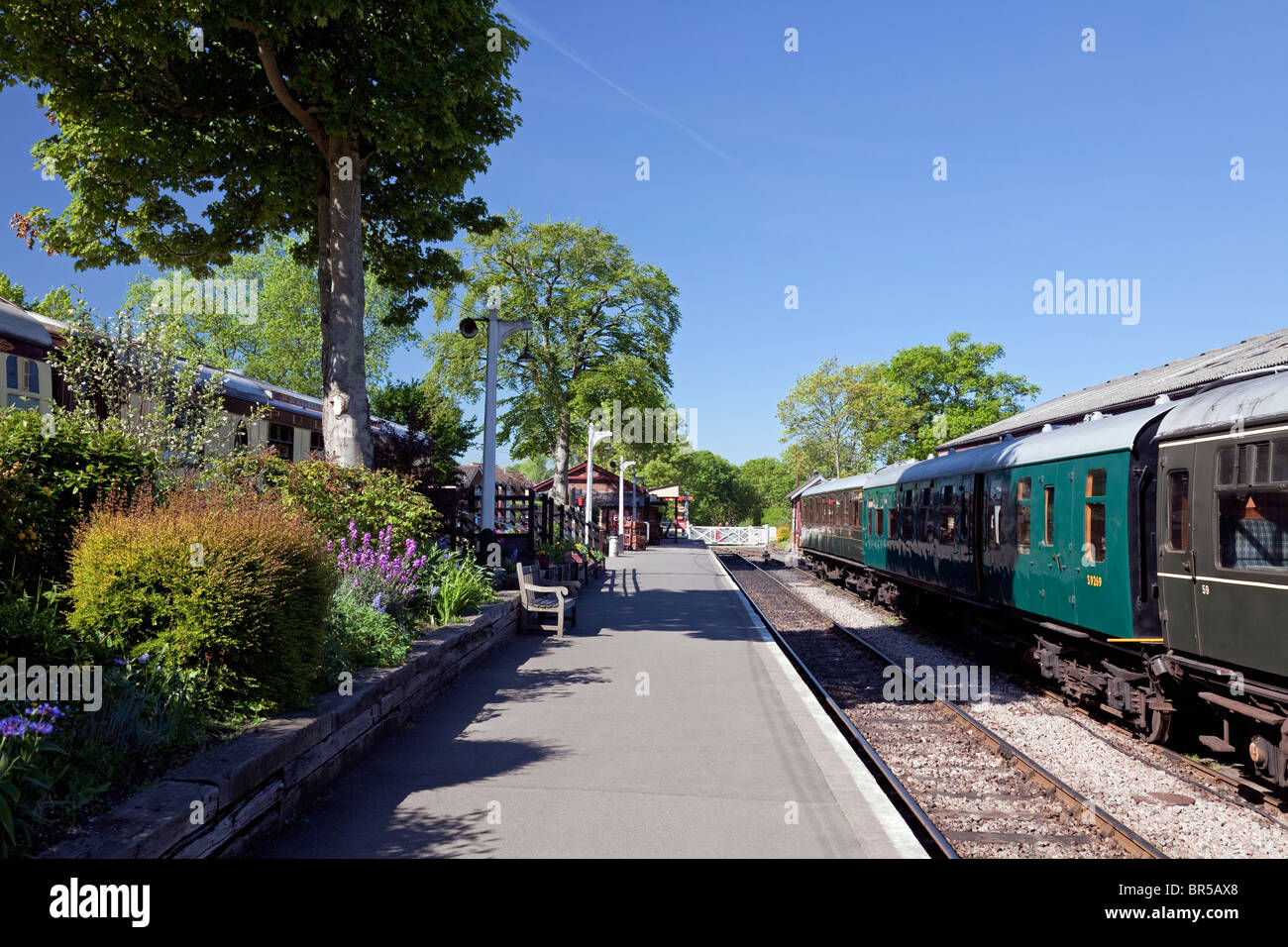 England Kent Tenterden Station on the Kent & East Sussex preserved steam railway - Stock Image