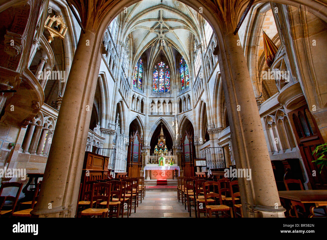 France, Marne, L'Epine, Notre Dame de l'Epine Basilica listed as World Heritage by UNESCO - Stock Image
