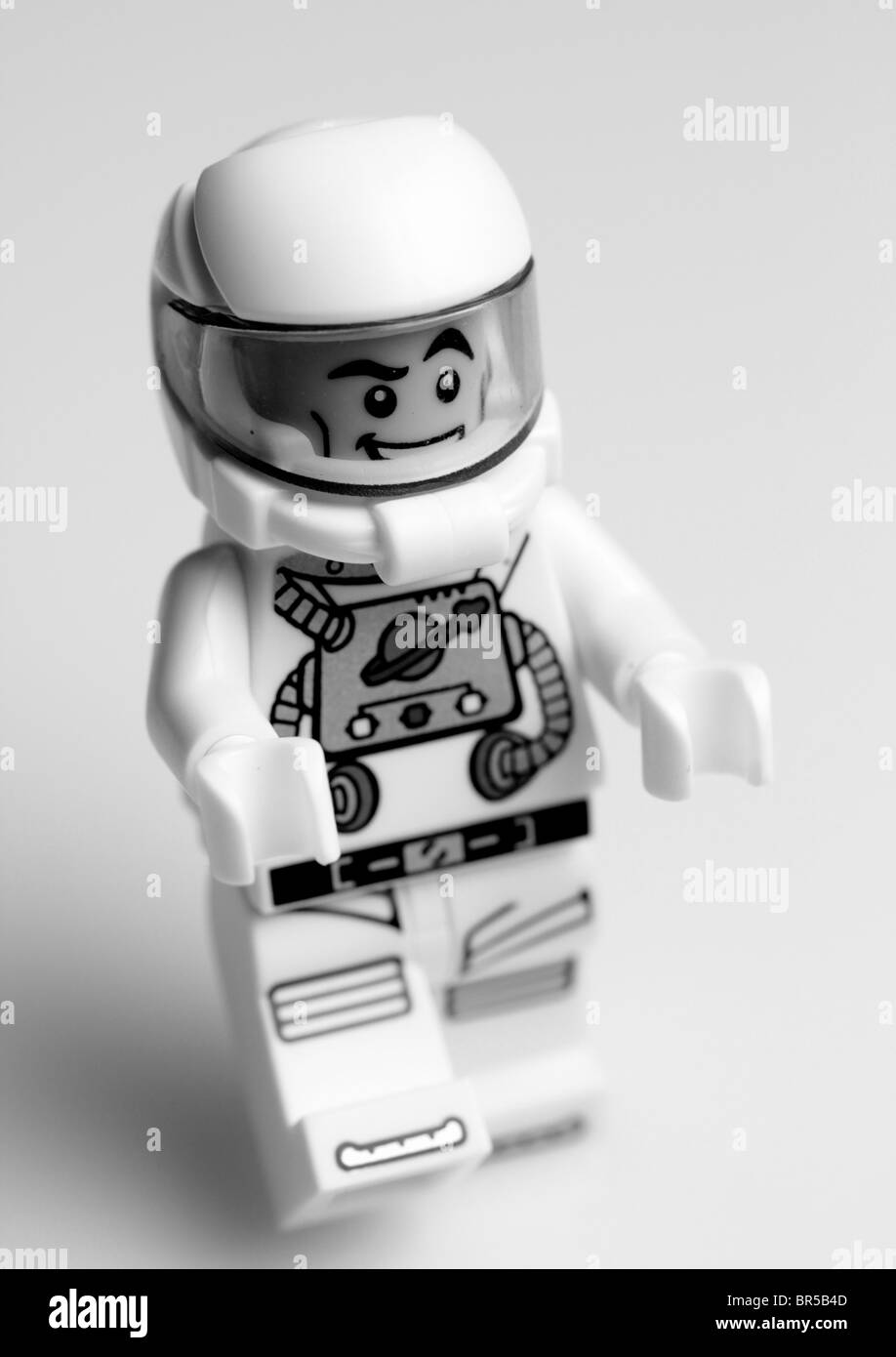 One small step for a mini figure, one giant leap for Lego. - Stock Image