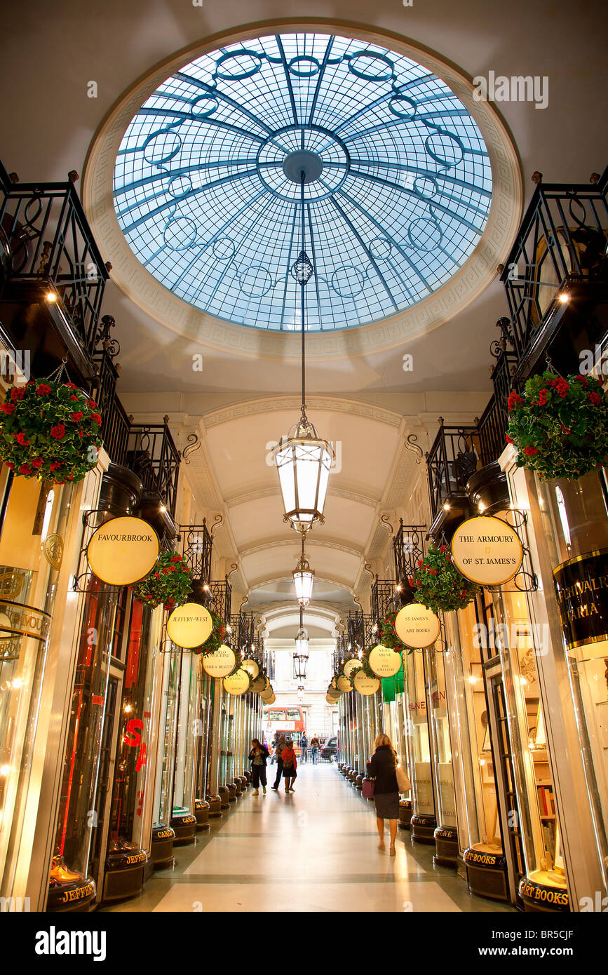 Europe, United Kingdom, England, London, Mayfair district, Piccadilly Arcade - Stock Image