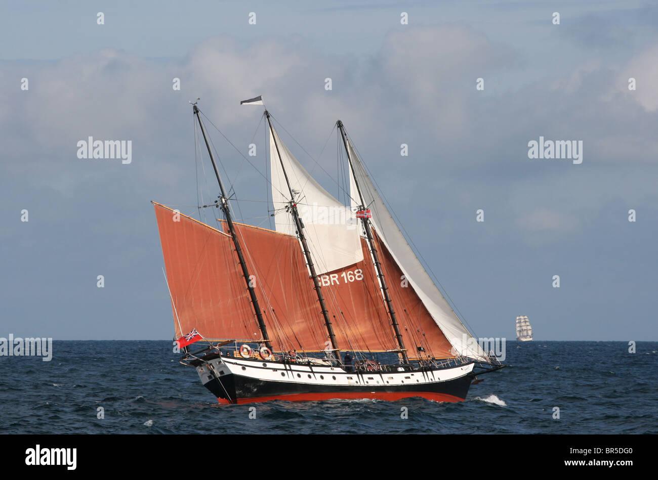 Trinovante, The Tall Ships Races 2010, Kristiansand - Stock Image