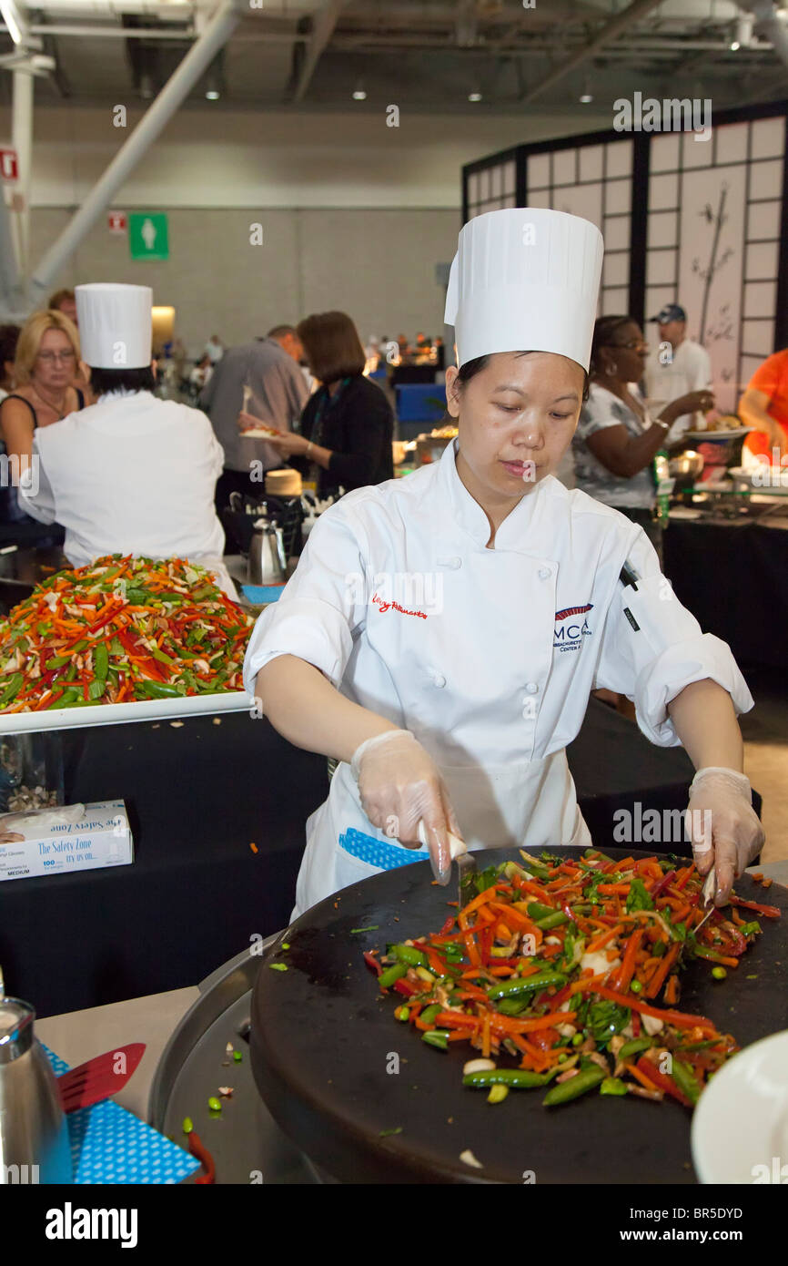 Chef at Massachusetts Convention Center - Stock Image