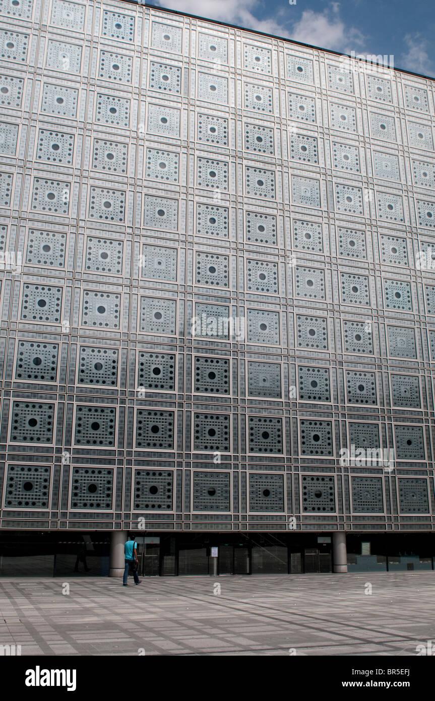 Institut du Monde Arabe, Arab World Institute, Paris, France - Stock Image