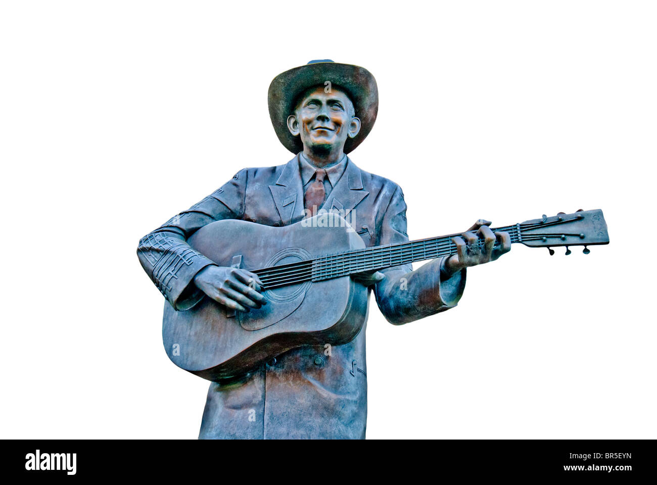 Hank Williams, country music legend, memorial statue (by Doug and Sandra McDonald), Montgomery, Alabama, USA - Stock Image