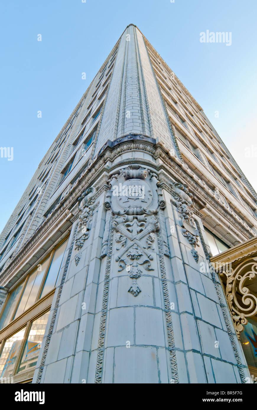 The Van Antwerp Building, Beaux-Arts style with a terra cotta facade, Mobile, Alabama, USA Stock Photo