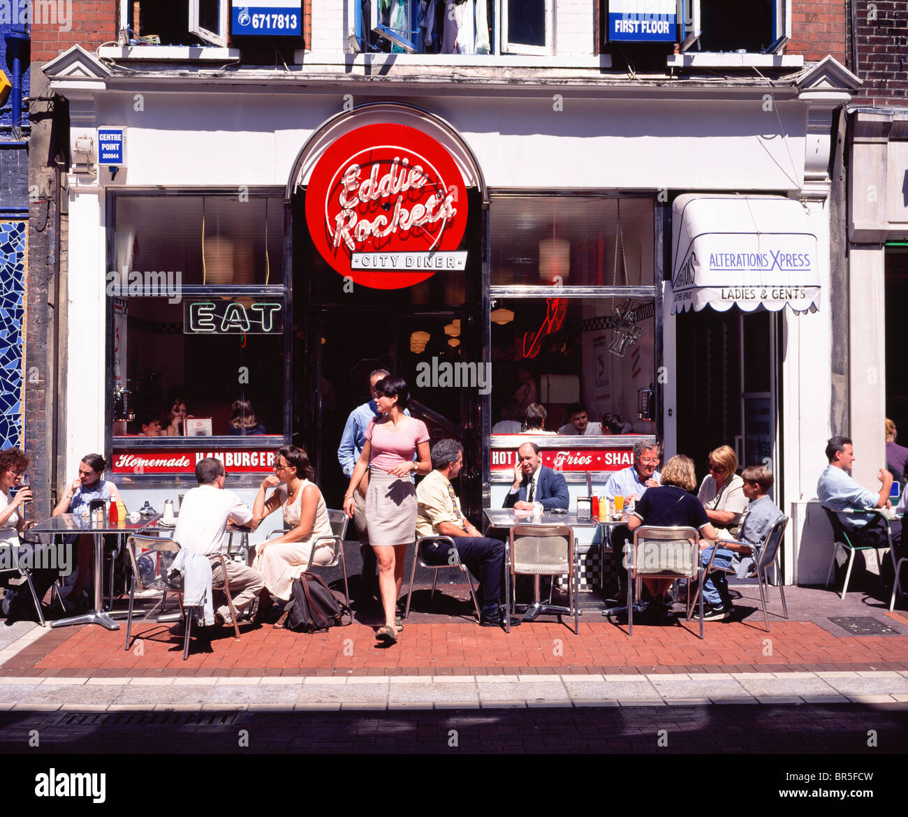Dublin, Co Dublin, Ireland, Cafe Eddie Rockets - Stock Image