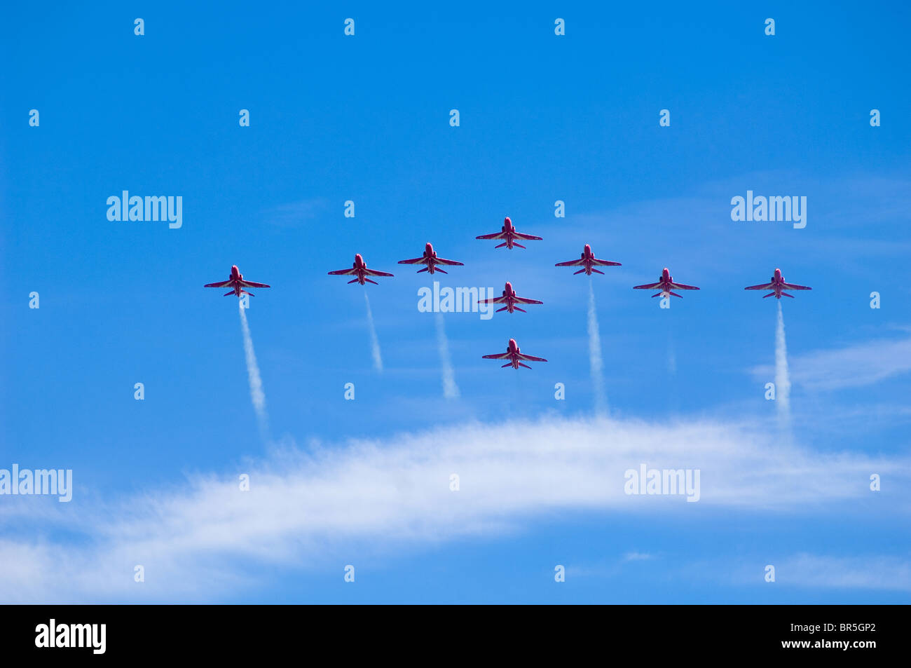 The RAF Aerobatic team, the Red Arrows - Stock Image