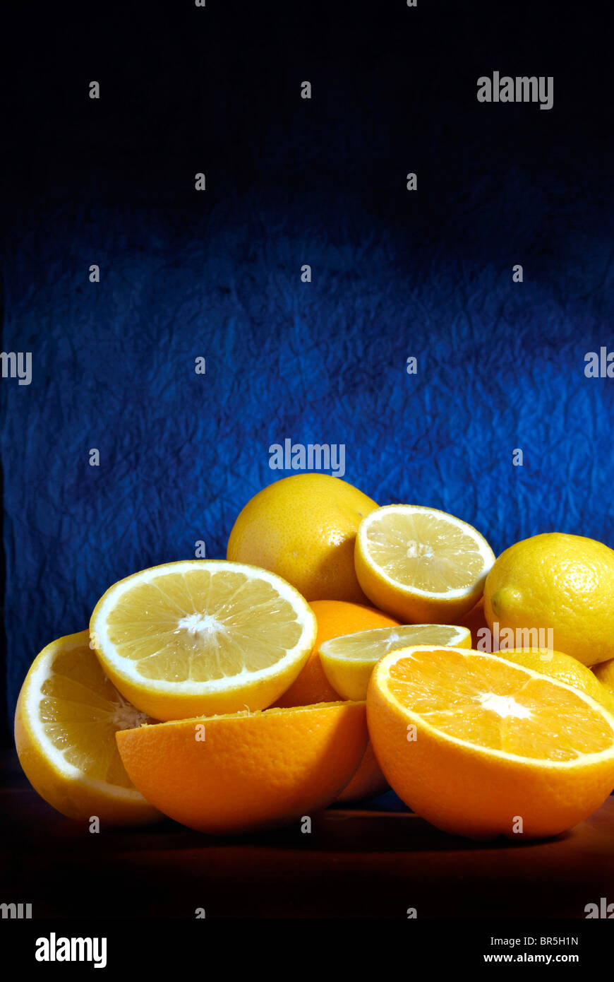 oranges and lemons fruits - Stock Image