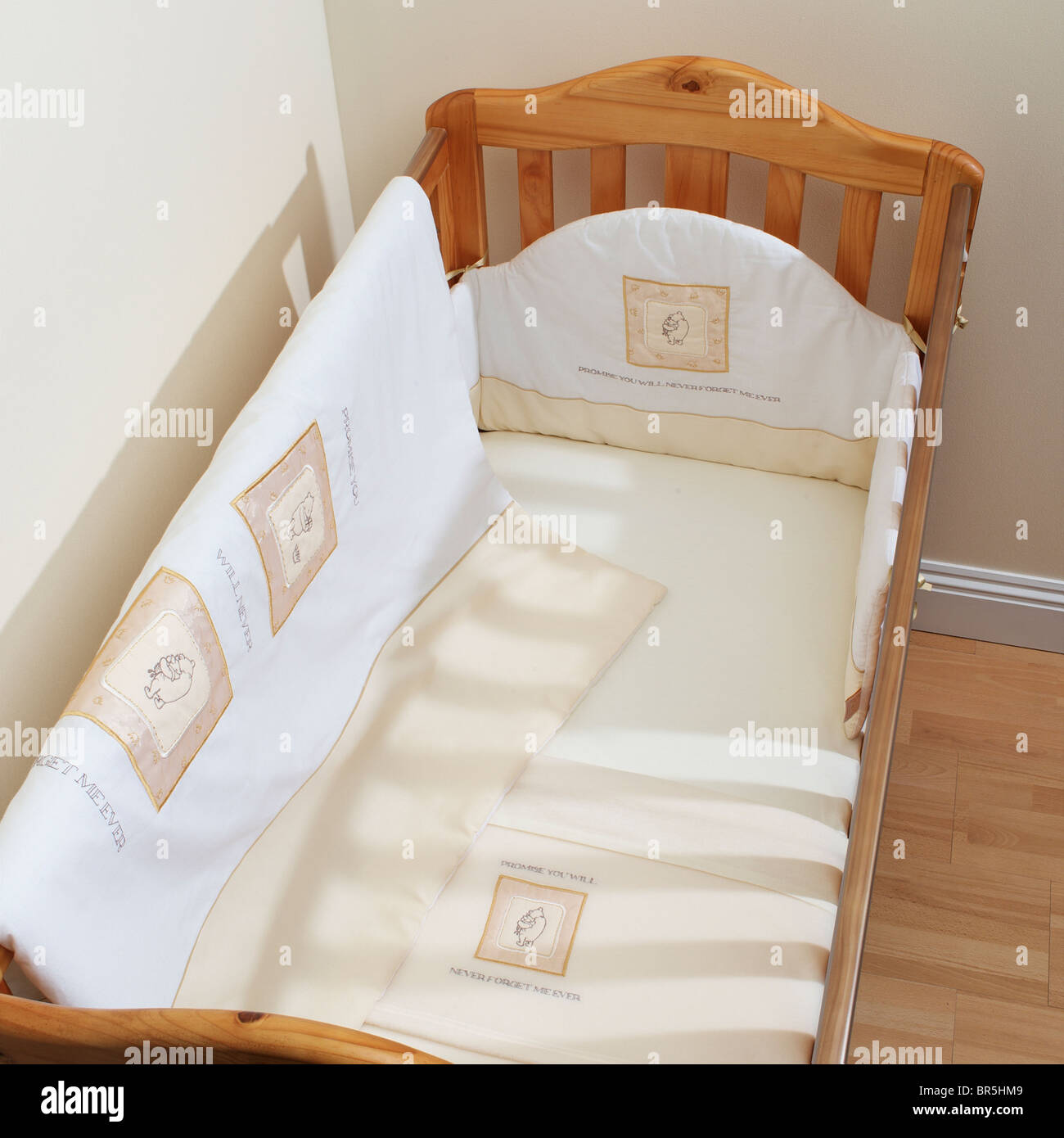Child's cot in corner set - Stock Image