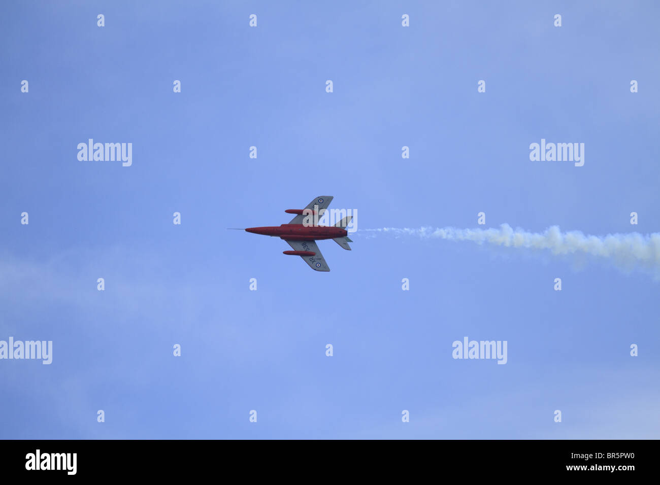 A Folland Gnat displaying at Eastbourne Air Show, East Sussex, England - Stock Image
