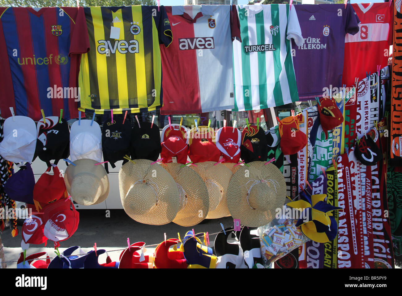 finest selection d1388 1cf4a Vendor selling football / soccer replica shirts and hats in ...