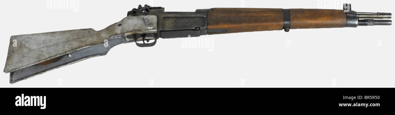 A French paratrooper rifle M A S 36 C R 39, (C R  for