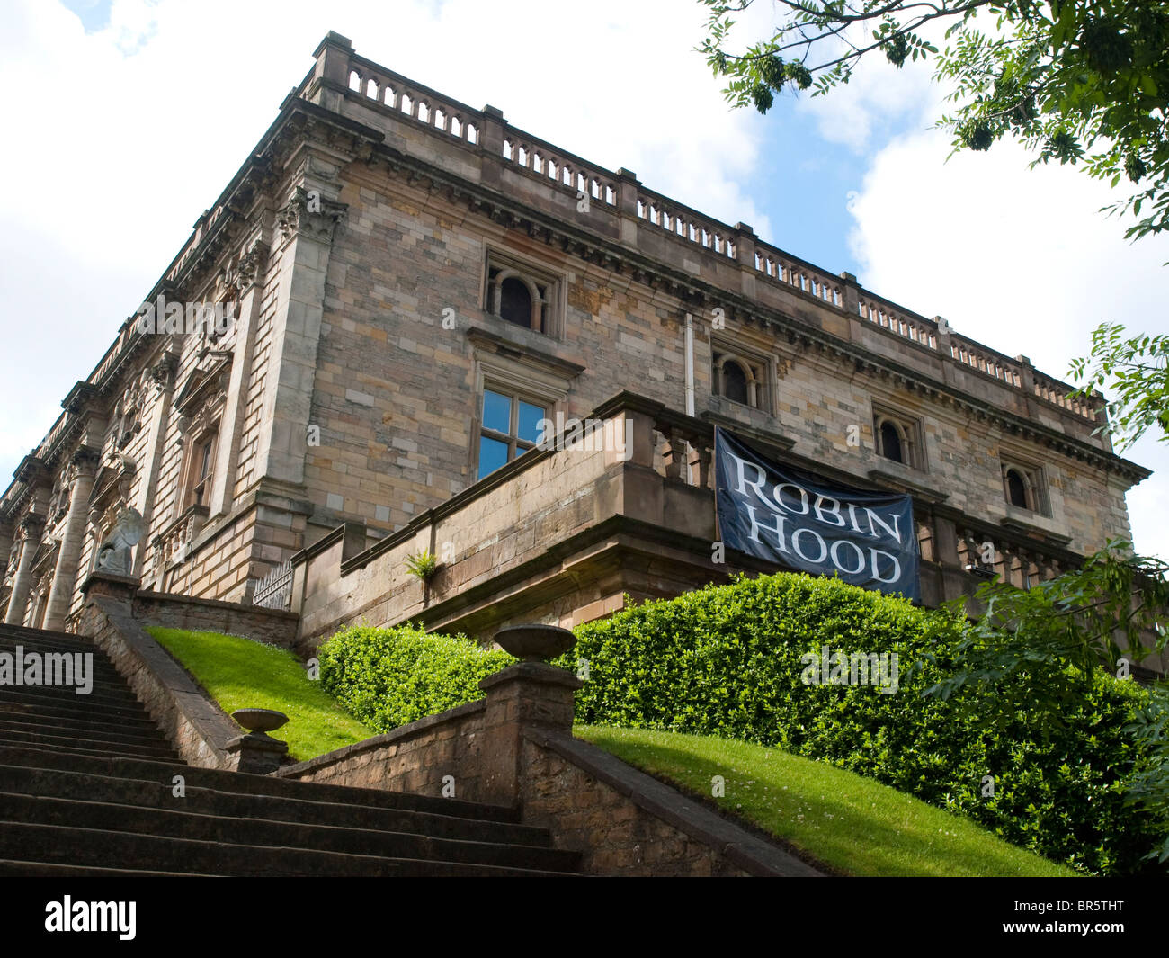 Nottingham Castle, Nottinghamshire England UK - Stock Image