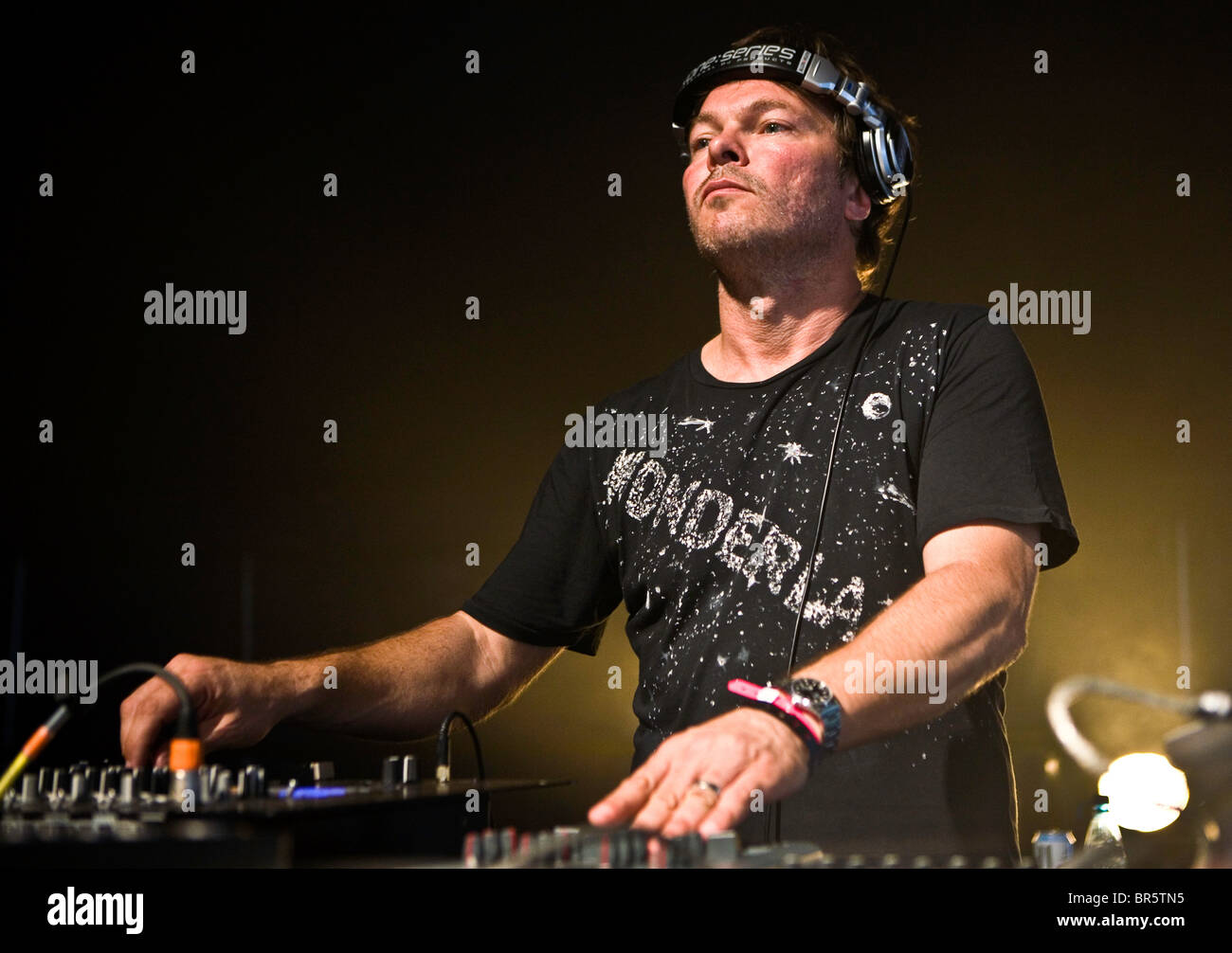 Pete Tong, DJ, playing at Rockness festival. - Stock Image