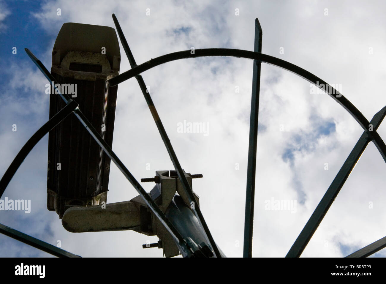 Closed Circuit Television CCTV camera. Surveillance, which will be relayed to a central control in London. Stock Photo