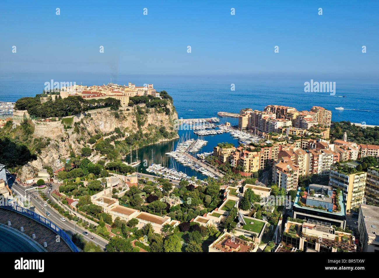 Fontvieille harbour, Monaco, France. - Stock Image