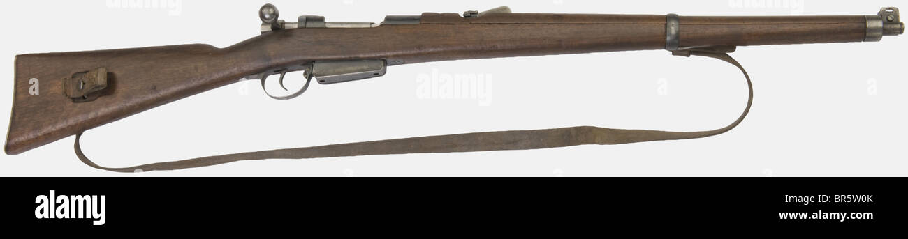 A Swiss cavalry carbine S I G  1893, Mannlicher pattern, calibre 7,5