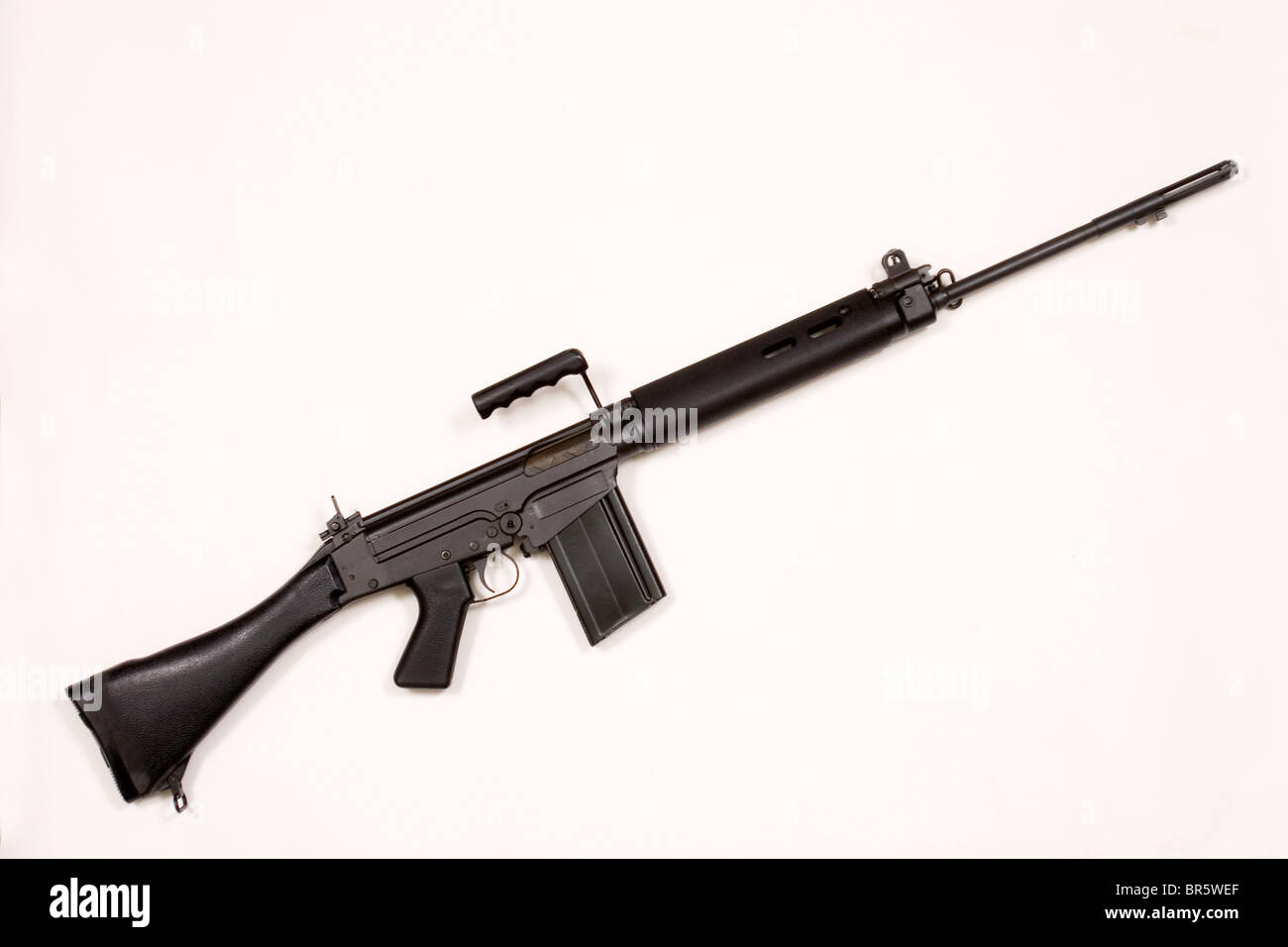 A L1A1 rifle used during Bloody Sunday in 1972 and now used in Sierra Leone by rebel forces. - Stock Image