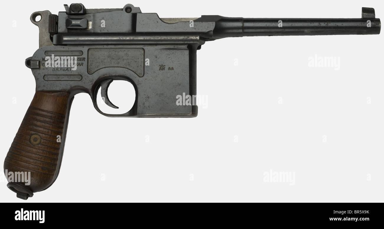 a german mauser c96 pistol pattern 1930 calibre 7 63 serial number