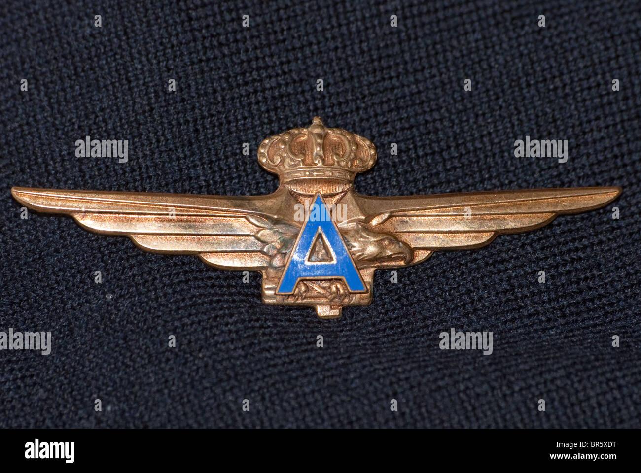 Italian Airforce 1937-1946 Pilots wings 'Atlantici' - Stock Image