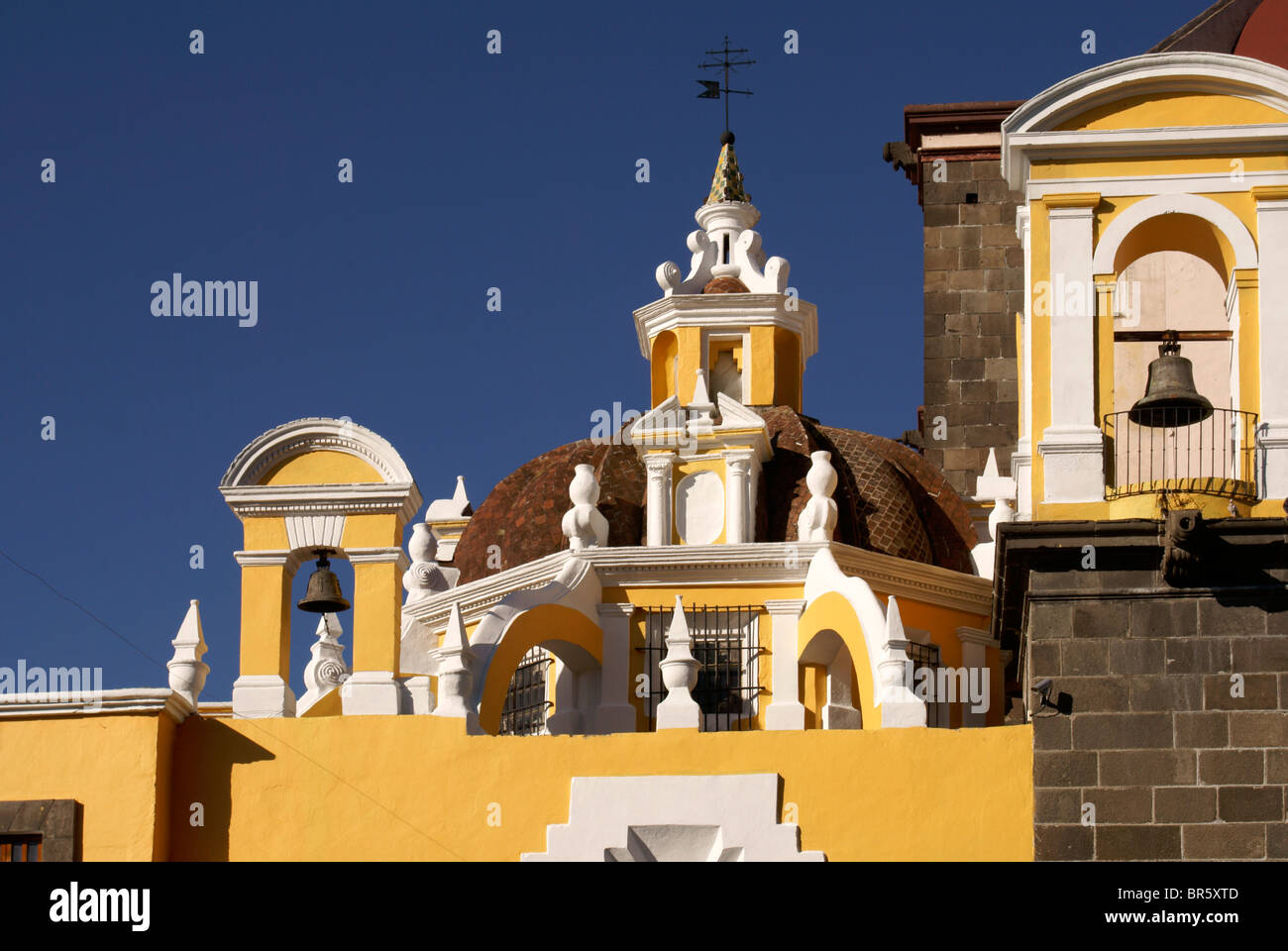 Architectural detail, Cathedral of the Immaculate Conception in Puebla, Mexico. - Stock Image