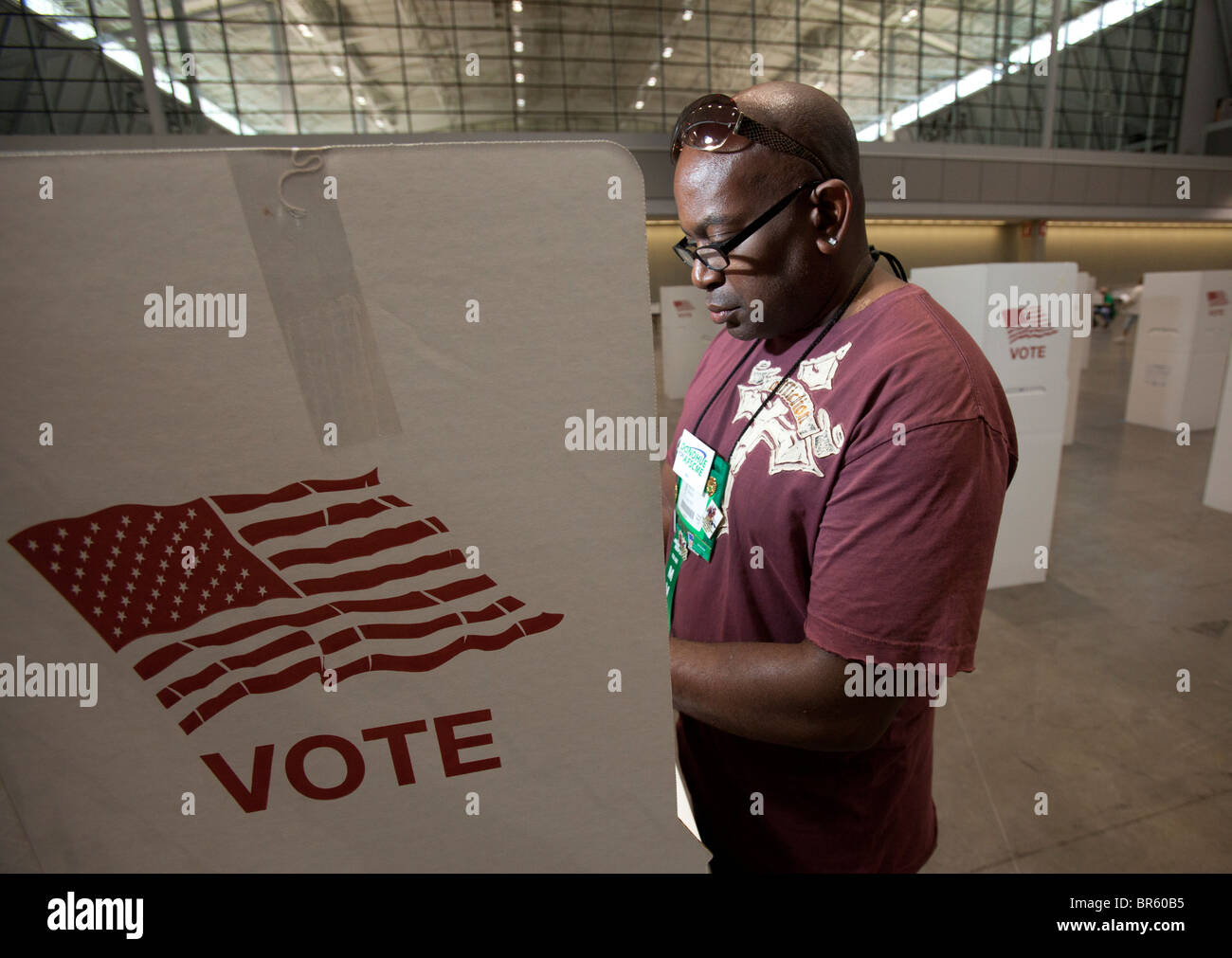 Voting for Union Leaders at AFSCME Convention - Stock Image