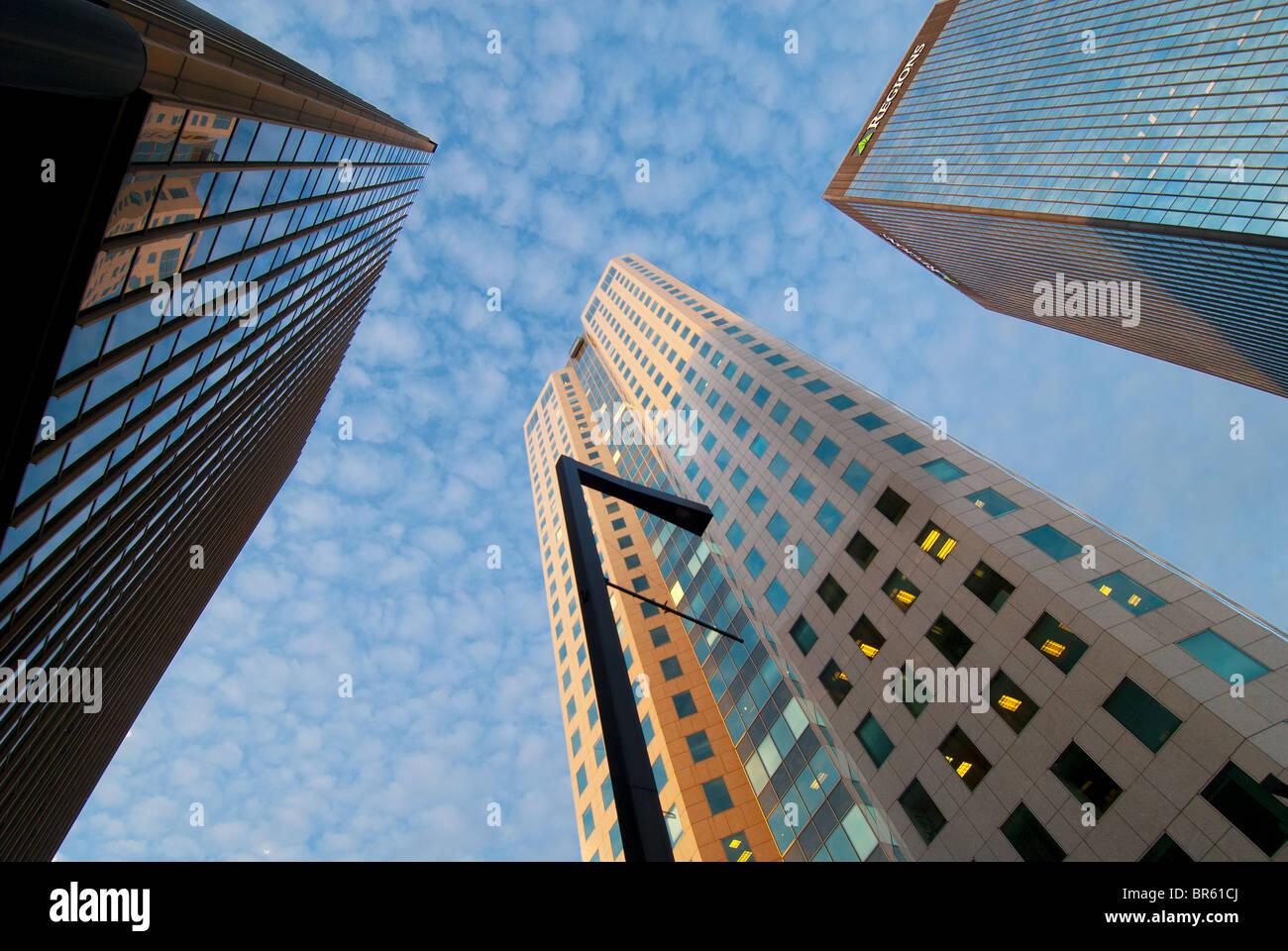 High-rise office buildings in Birmingham, Alabama, USA - Stock Image