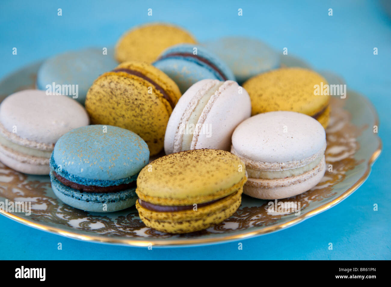 dessert plate of cookies - Stock Image
