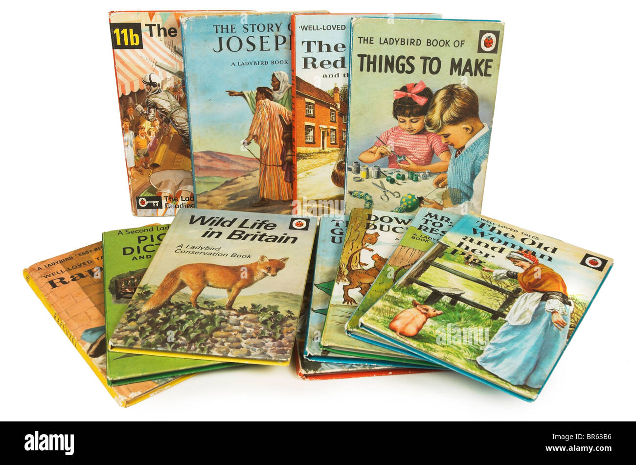 Selection of Lady Bird books from the 60s/70s - Stock Image