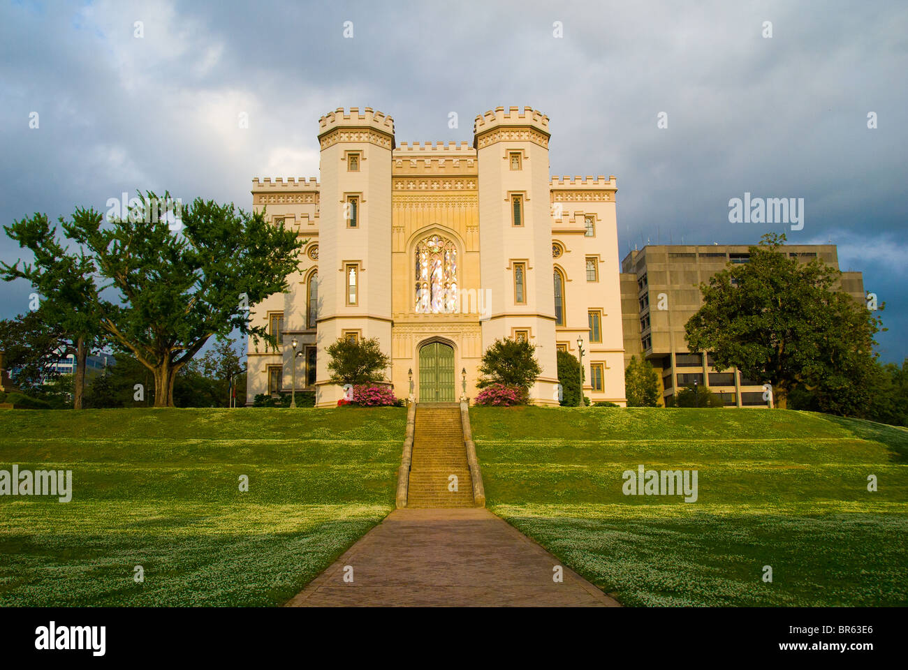 Louisiana's Old State Capitol built in 1847, now Museum of Political History, Baton Rouge, Louisiana, USA - Stock Image