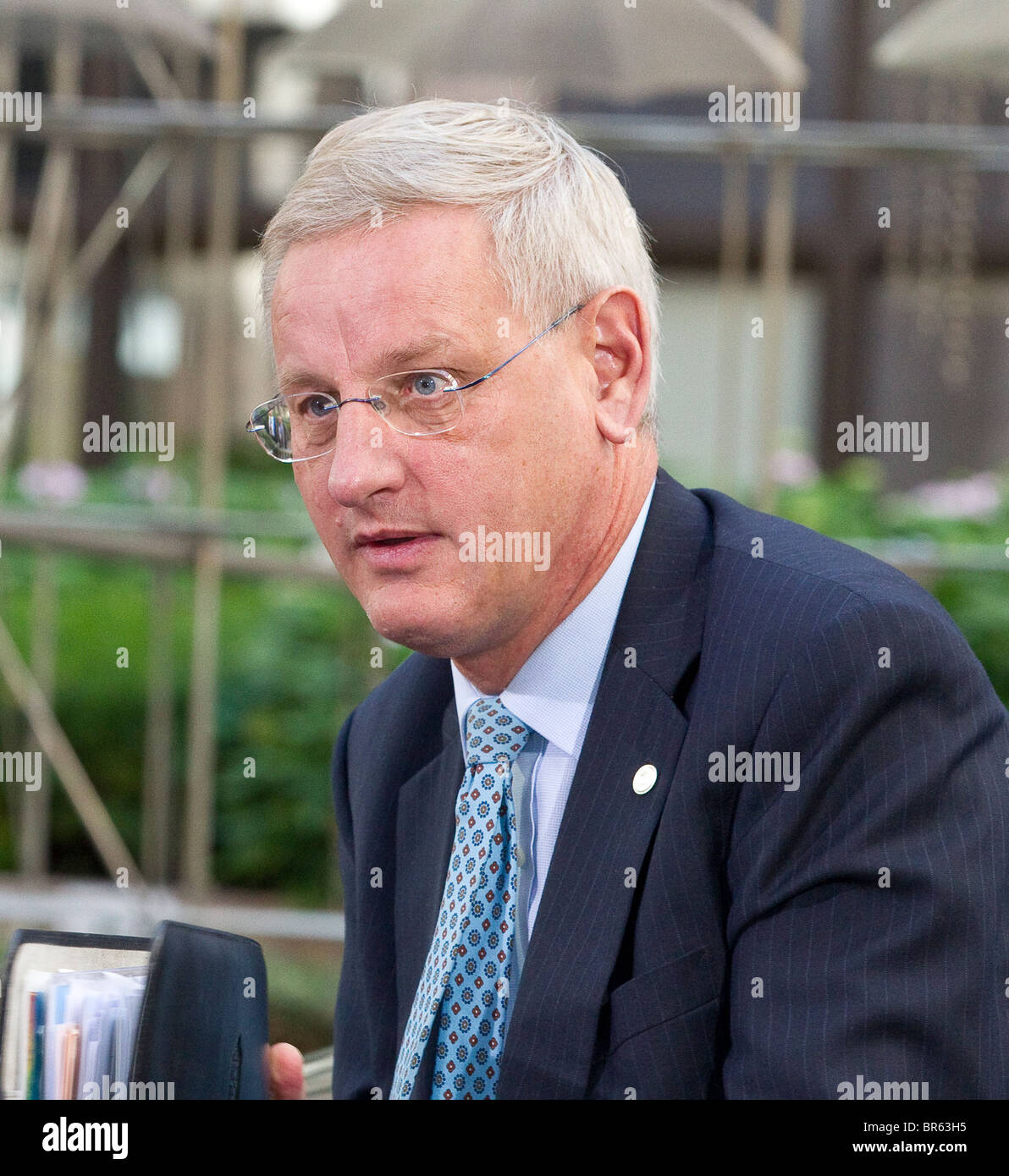 Carl Bildt, Minister for Foreign Affairs, Sweden - Stock Image