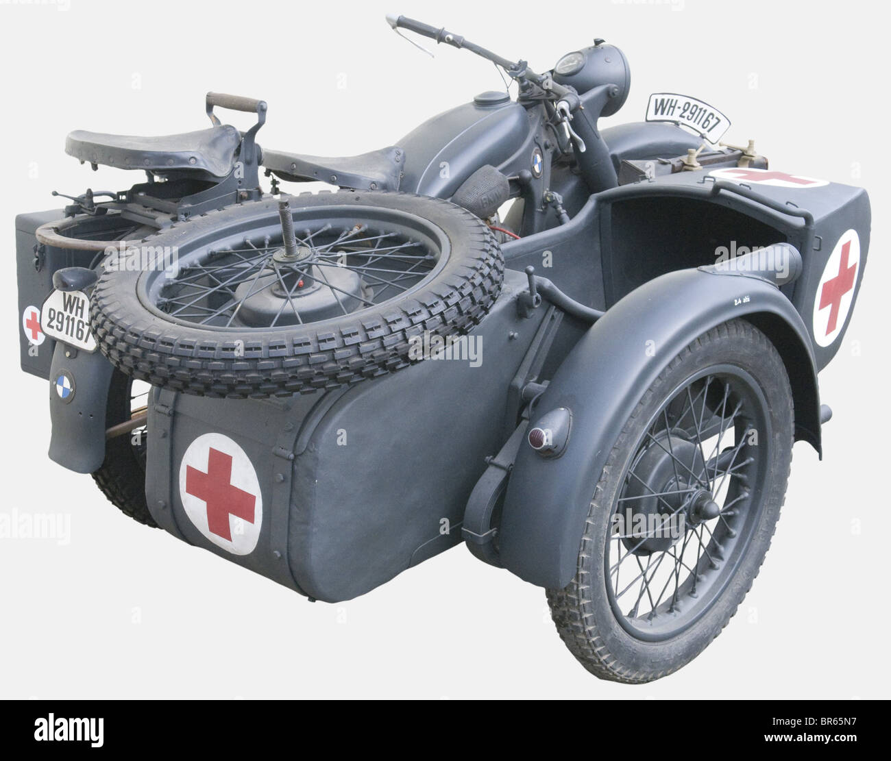 A BMW R12 Motorcycle With Sidecar., The Production Of The