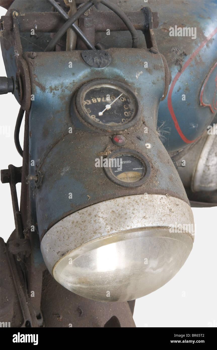 VEHICULES MILITAIRES, Moto ARDIE VF 125 cc, Marque allemande fondée à Nuremberg en 1919 par Arno Dietrich, - Stock Image