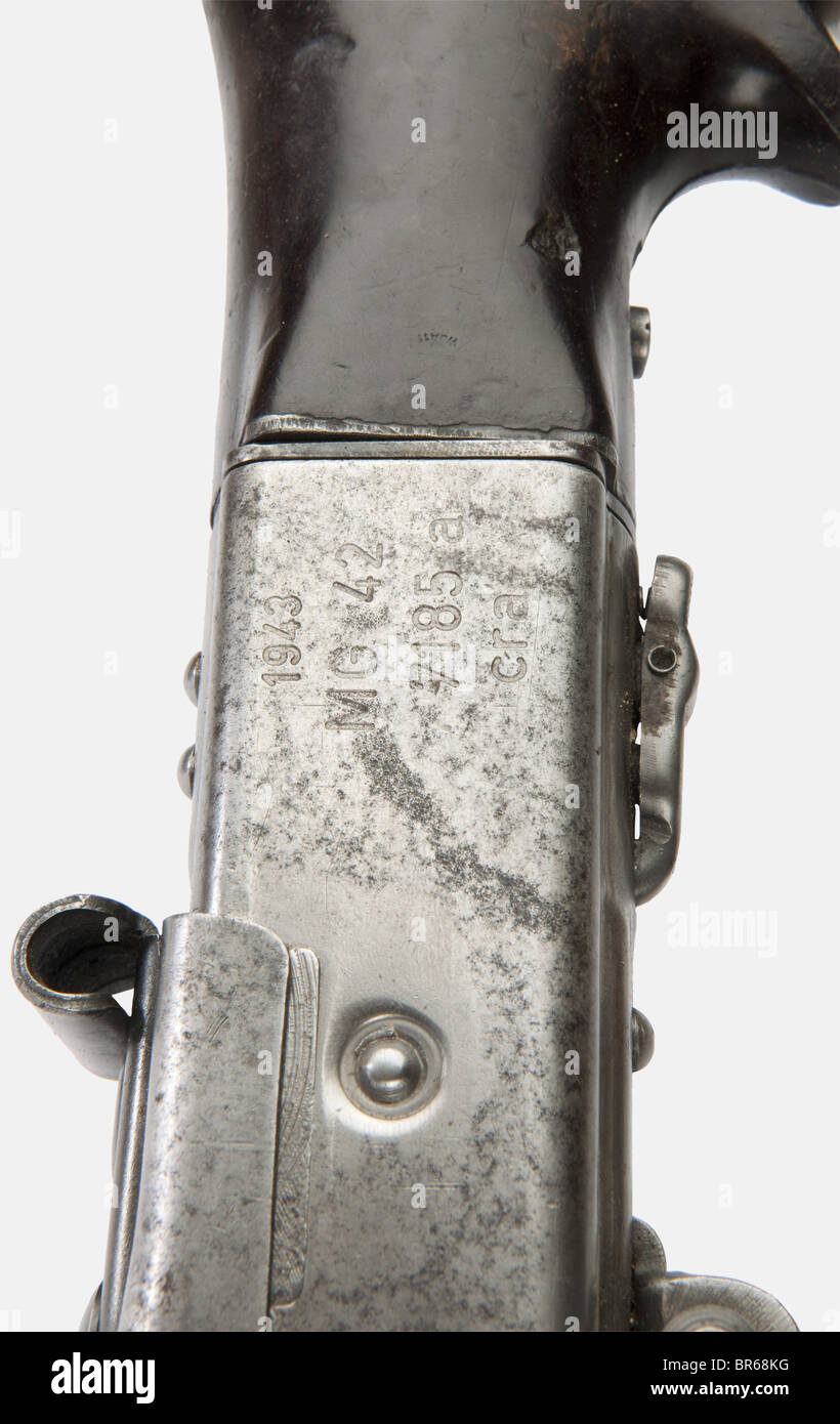 ARMES A FEU, Mitrailleuse allemande MG 42, calibre 7,92 x 57, fabriqué par l'usine 'cra' (Maget - Stock Image